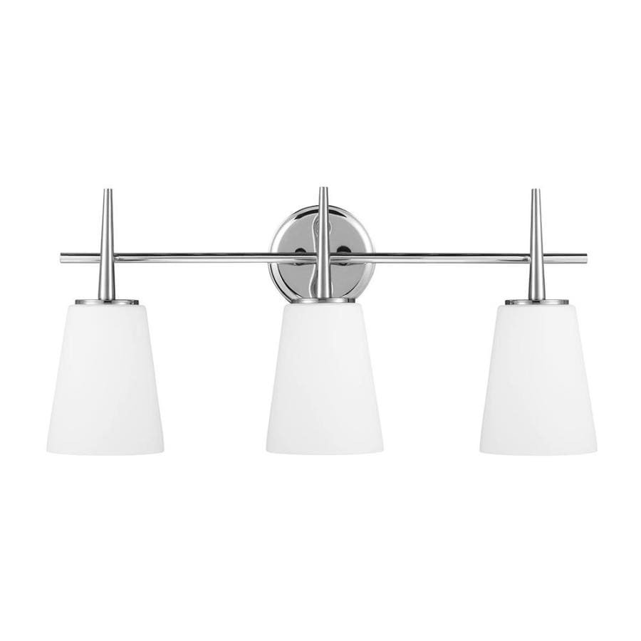 Sea Gull Lighting Driscoll 3-Light Chrome Bell Vanity Light