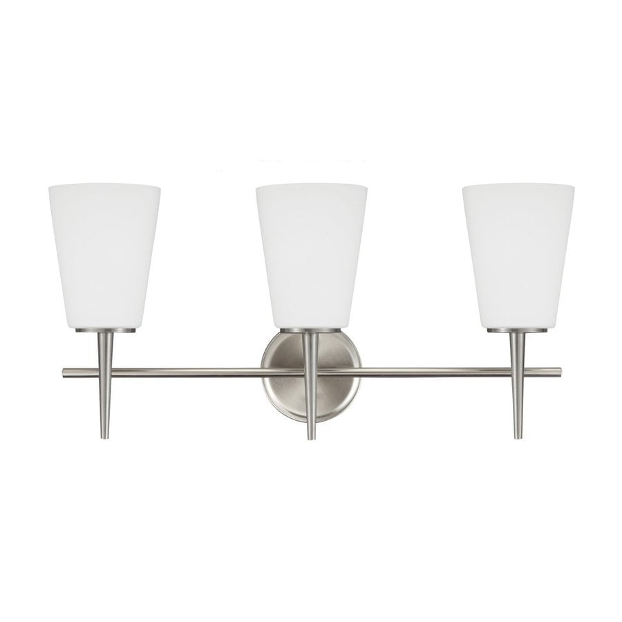Sea Gull Lighting Driscoll 3-Light Brushed Nickel Bell Vanity Light
