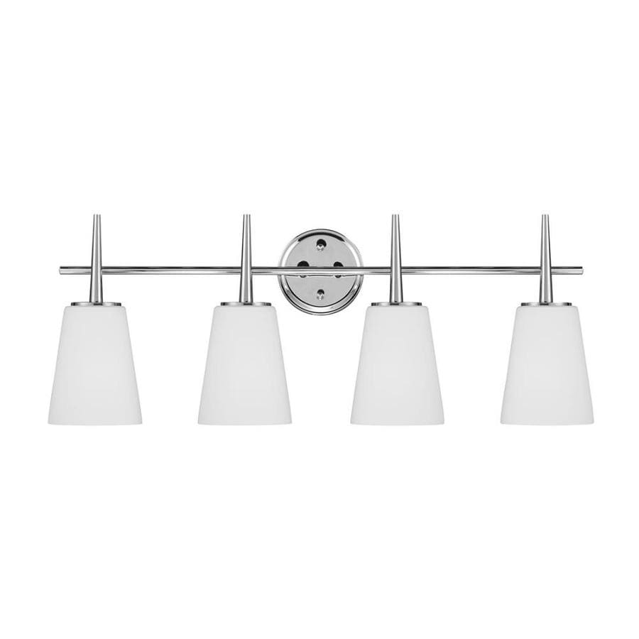Shop sea gull lighting driscoll 4 light 3075 in chrome bell vanity sea gull lighting driscoll 4 light 3075 in chrome bell vanity light aloadofball