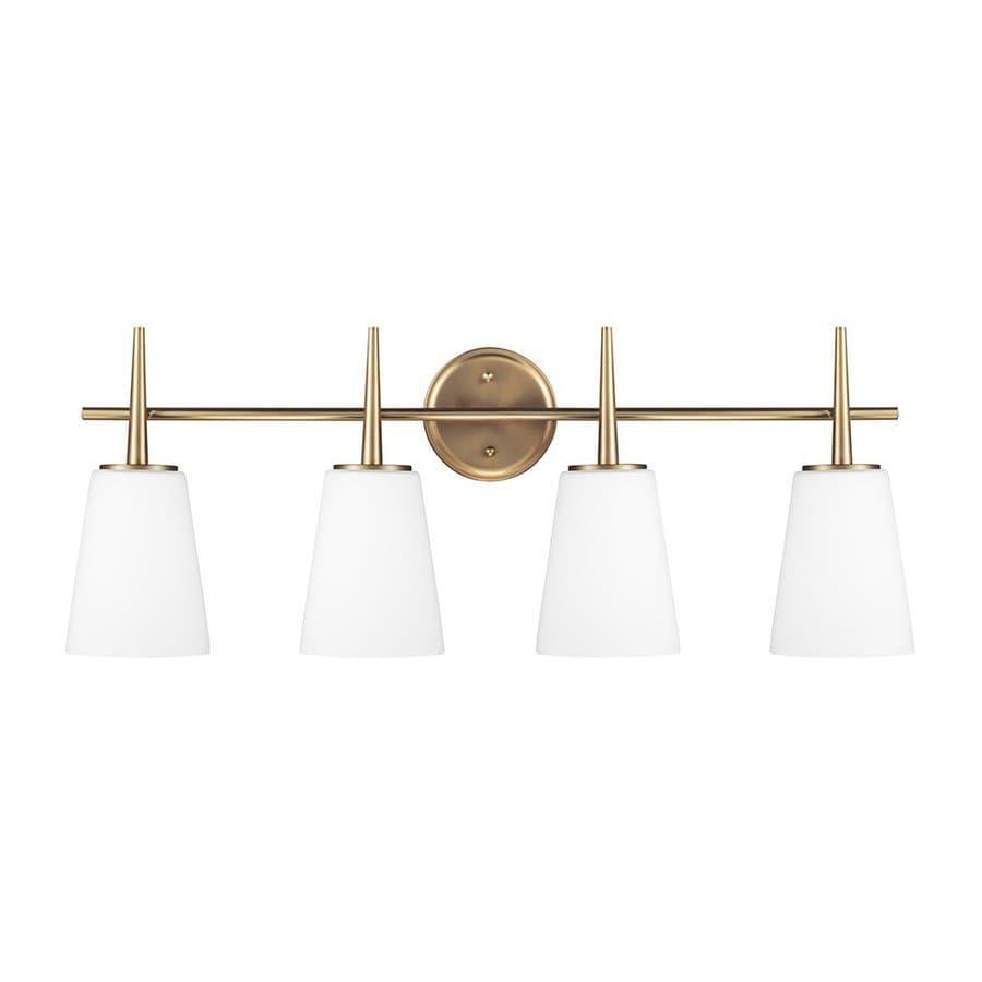 Sea Gull Lighting Driscoll 4-Light Satin Bronze Bell Vanity Light