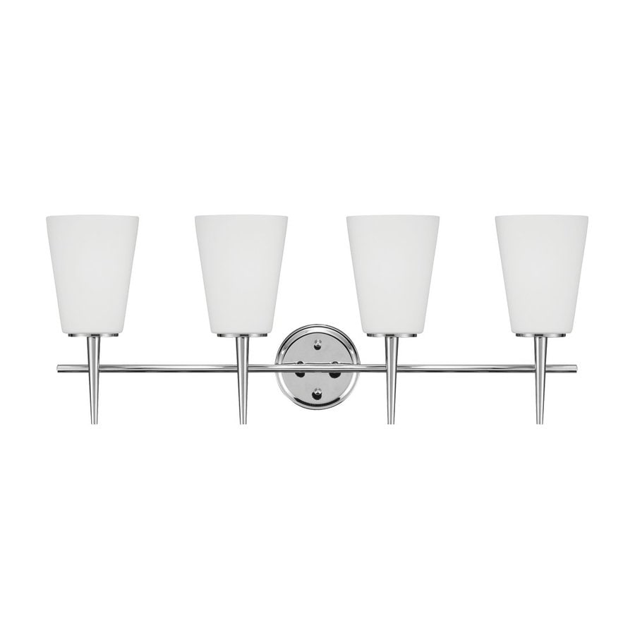 Sea Gull Lighting Driscoll 4-Light Chrome Bell Vanity Light
