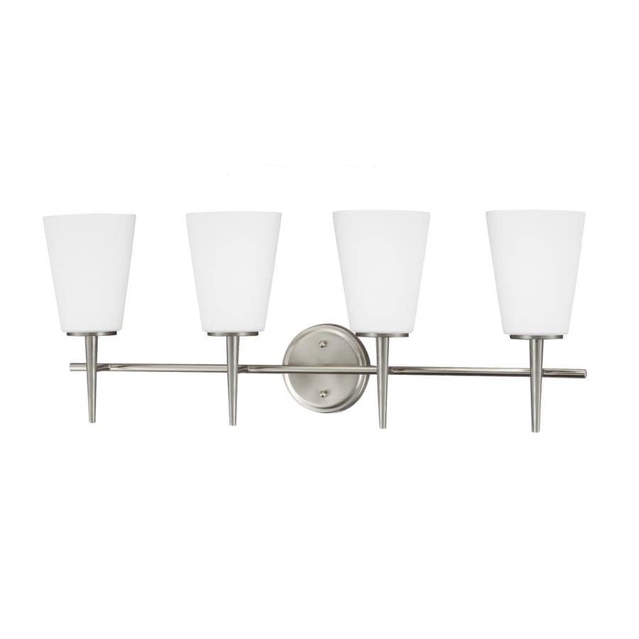 Sea Gull Lighting Driscoll 4-Light Brushed Nickel Bell Vanity Light