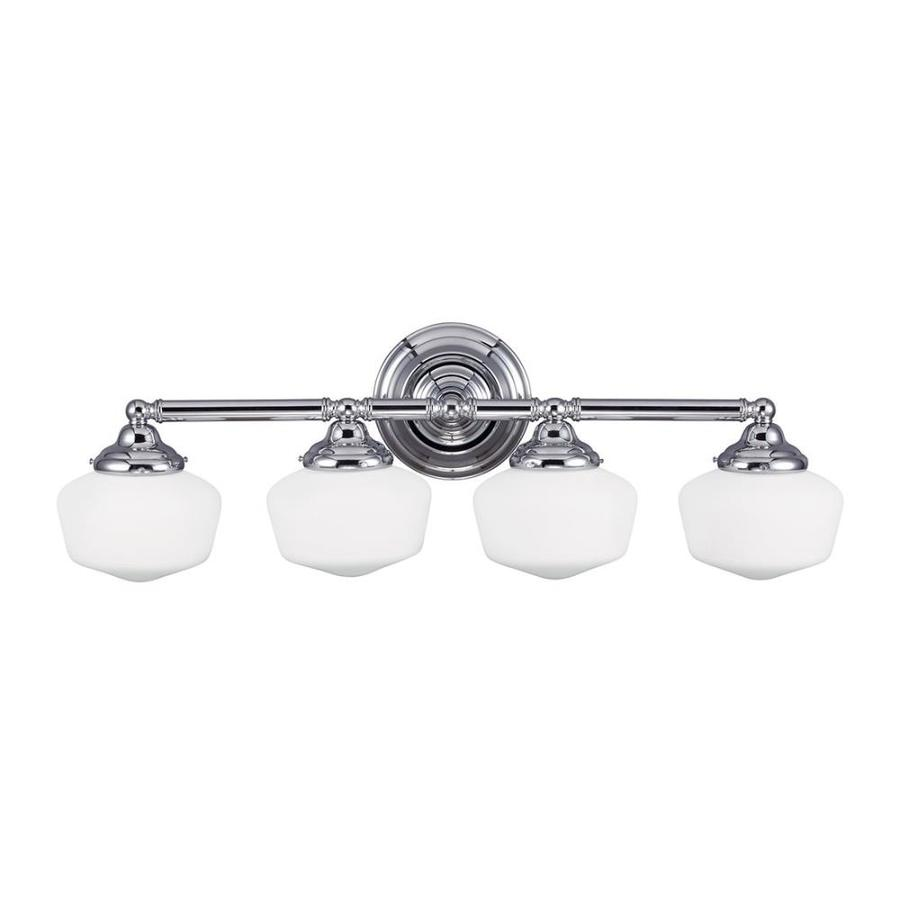 Sea Gull Lighting Academy 4-Light Chrome Schoolhouse Vanity Light