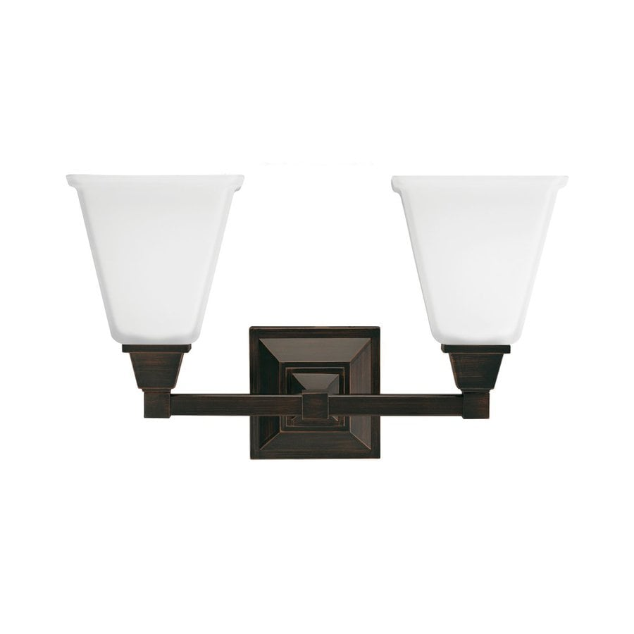 Sea Gull Lighting Denhelm 2-Light Burnt Sienna Bell Vanity Light