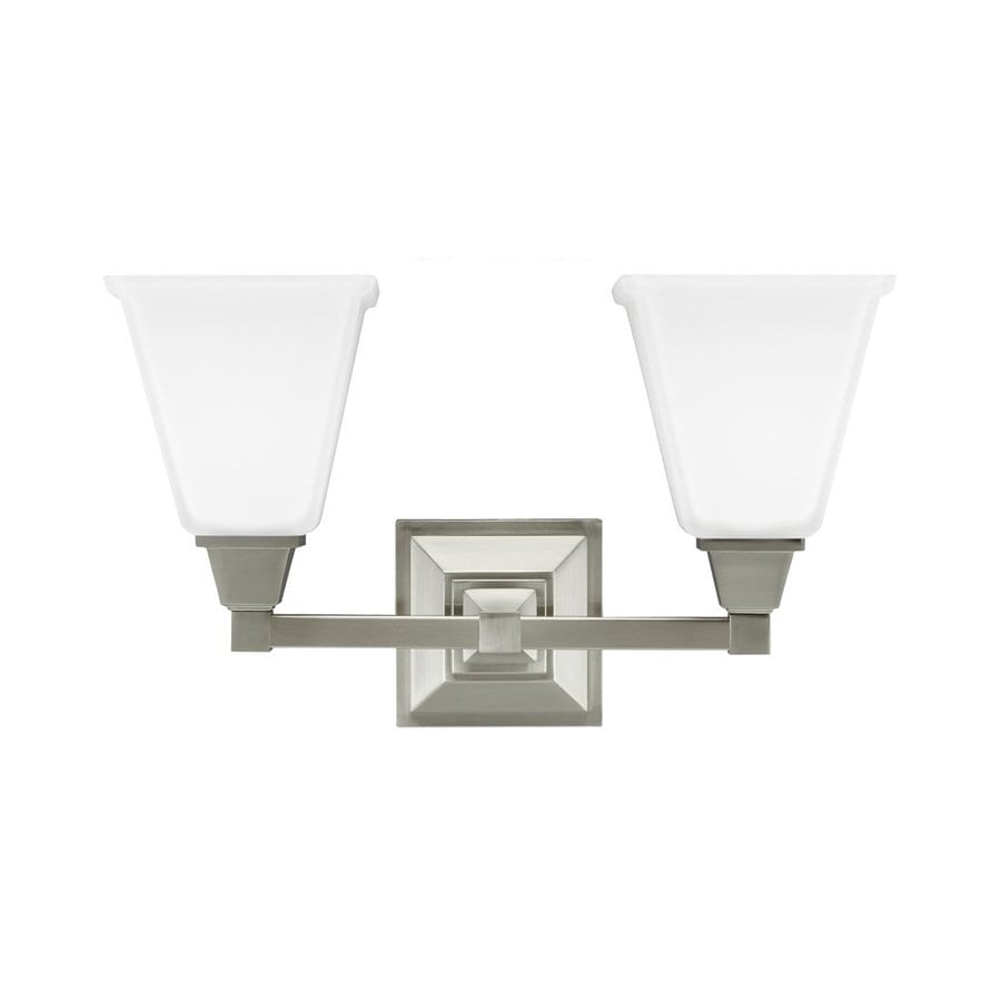 Sea Gull Lighting Denhelm 2-Light Brushed Nickel Vanity Light