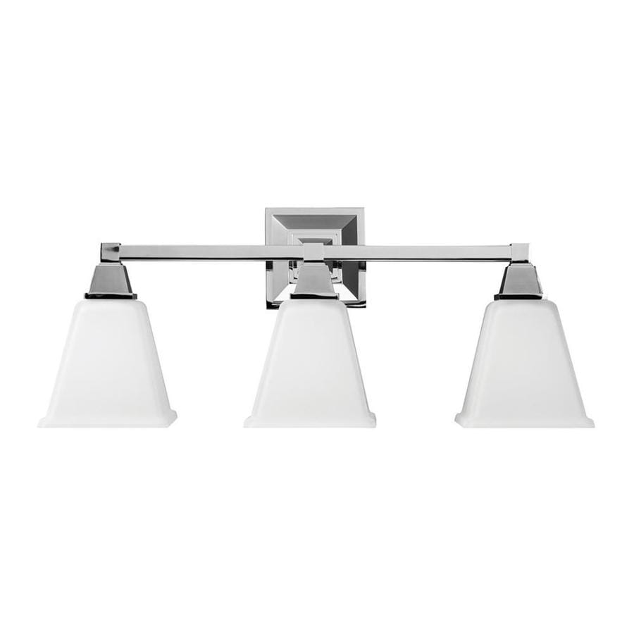 Sea Gull Lighting Denhelm 3-Light 10-in Chrome Bell Vanity Light