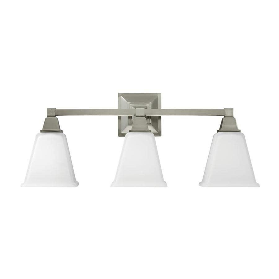 Sea Gull Lighting Denhelm 3-Light 10-in Brushed nickel Bell Vanity Light