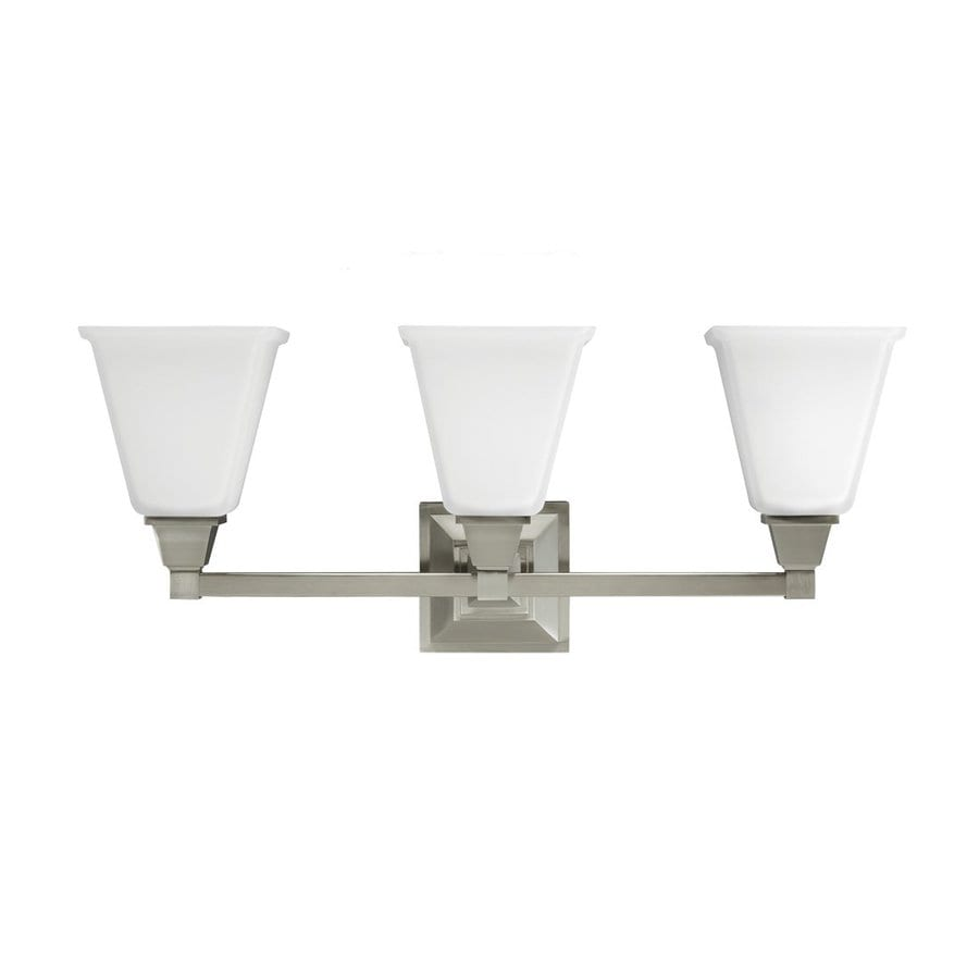 Sea Gull Lighting Denhelm 3-Light Brushed Nickel Bell Vanity Light