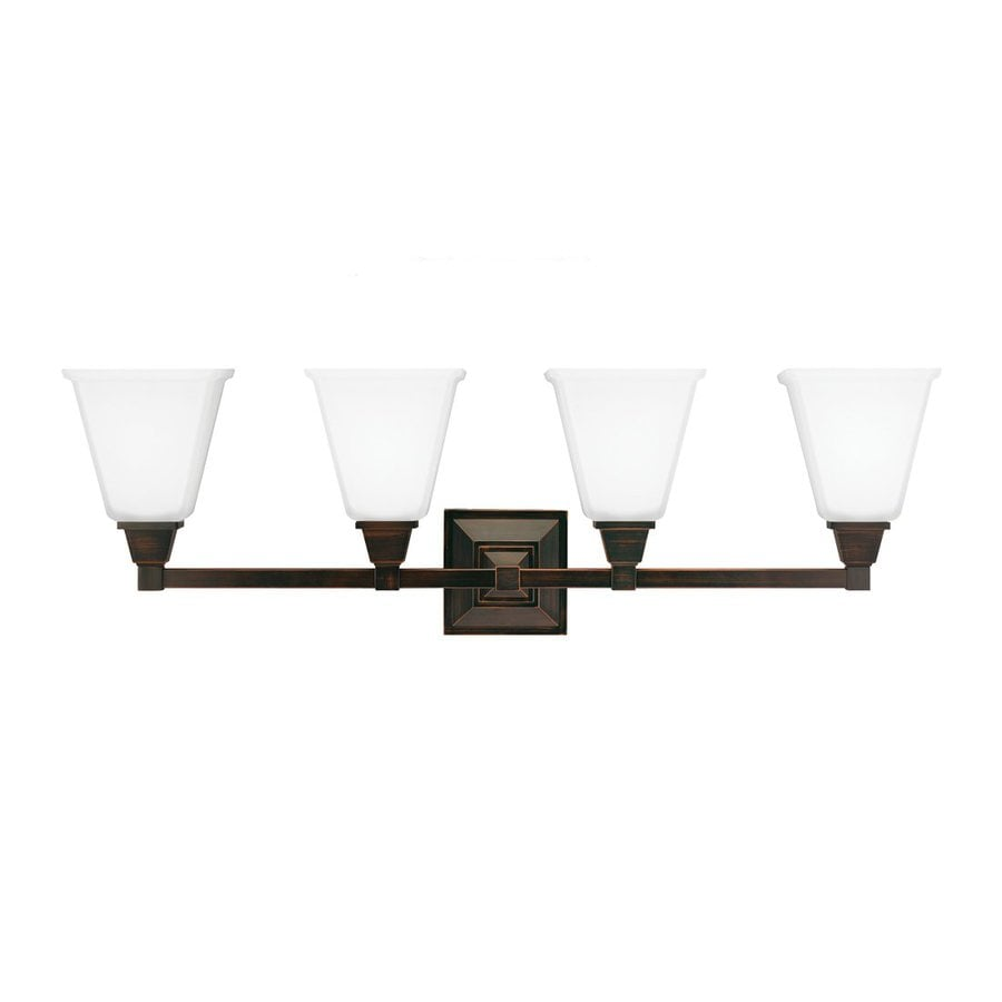 Sea Gull Lighting Denhelm 4-Light Burnt Sienna Bell Vanity Light