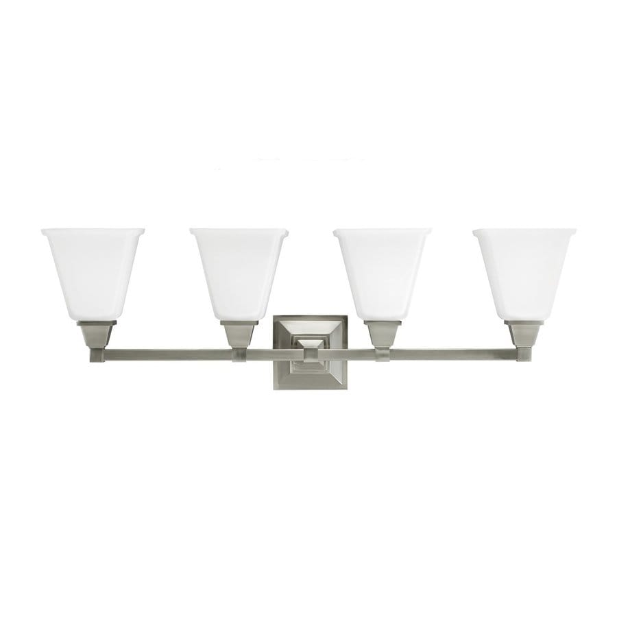 Sea Gull Lighting Denhelm 4-Light Brushed Nickel Bell Vanity Light
