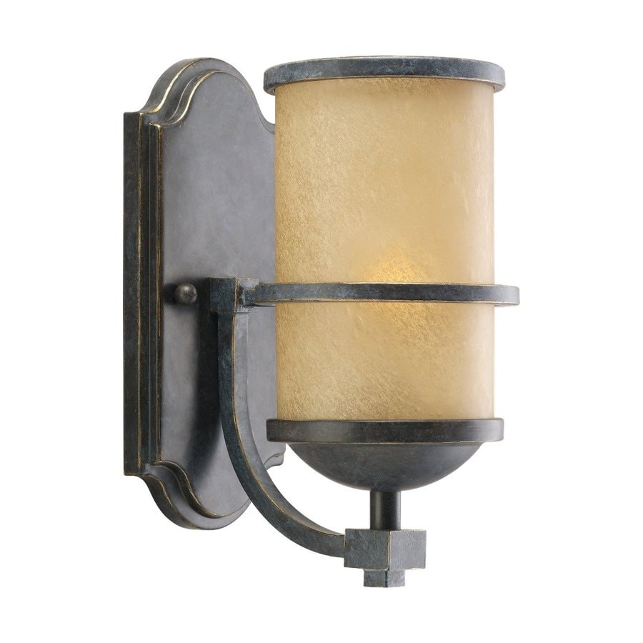 Sea Gull Lighting Roslyn 1-Light Flemish Bronze Cylinder Vanity Light