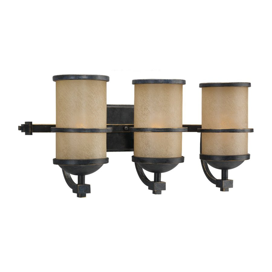 Sea Gull Lighting Roslyn 3-Light Flemish Bronze Cylinder Vanity Light