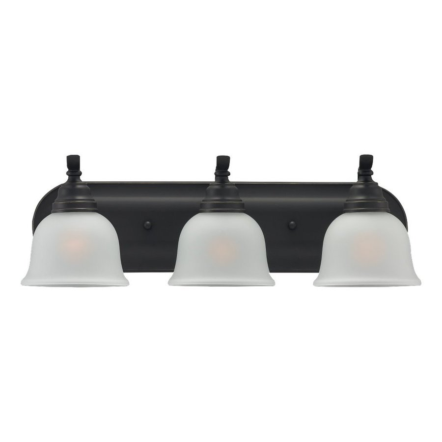 Sea Gull Lighting Wheaton 3-Light Heirloom Bronze Bell Vanity Light