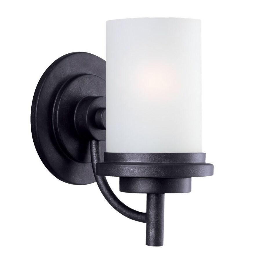 Sea Gull Lighting Winnetka 1-Light Blacksmith Cylinder Vanity Light