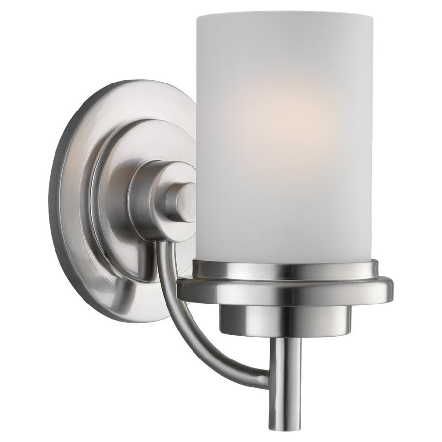 Sea Gull Lighting Winnetka 1-Light Brushed Nickel Cylinder Vanity Light