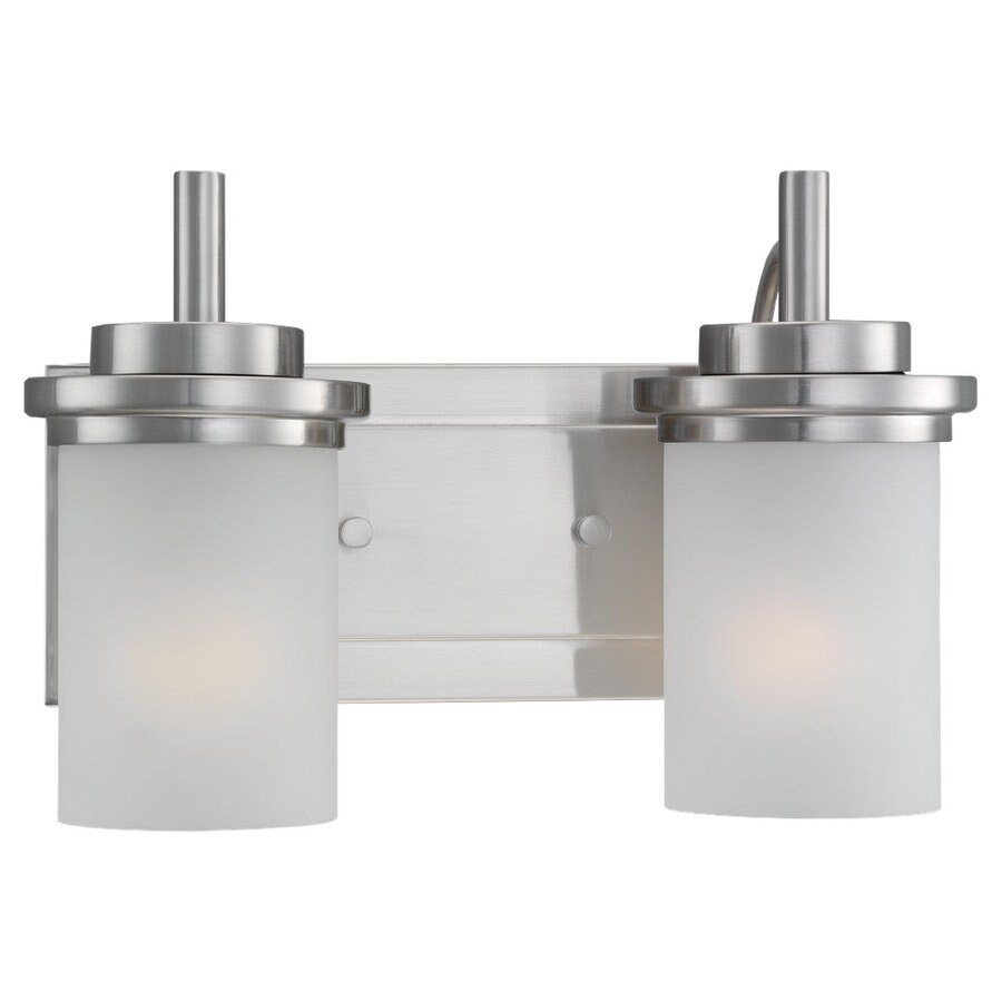 Sea Gull Lighting Winnetka 2-Light Brushed Nickel Cylinder Vanity Light