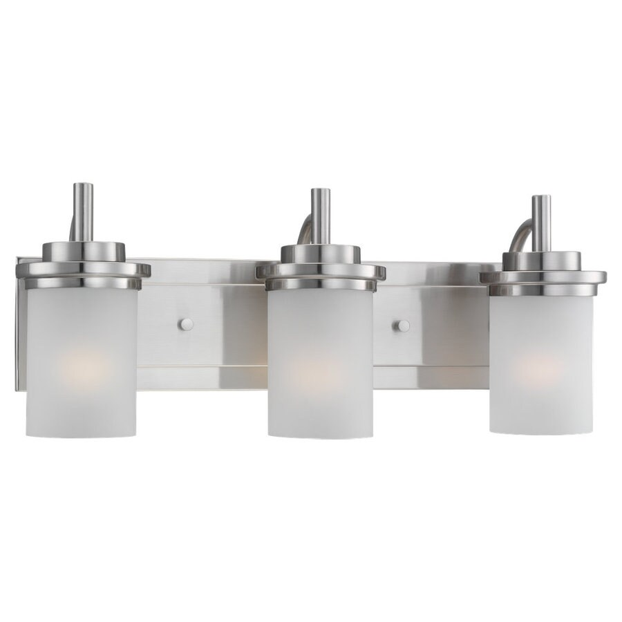 Sea Gull Lighting Winnetka 3-Light Brushed Nickel Cylinder Vanity Light
