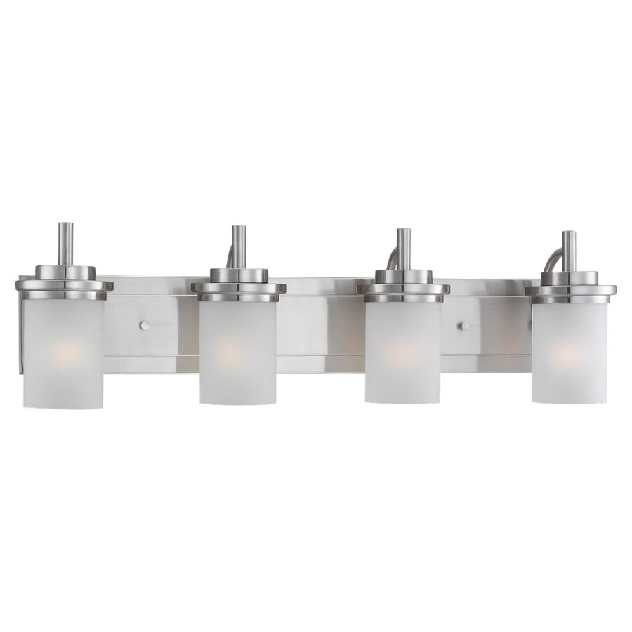 Sea Gull Lighting Winnetka 4-Light Brushed Nickel Cylinder Vanity Light