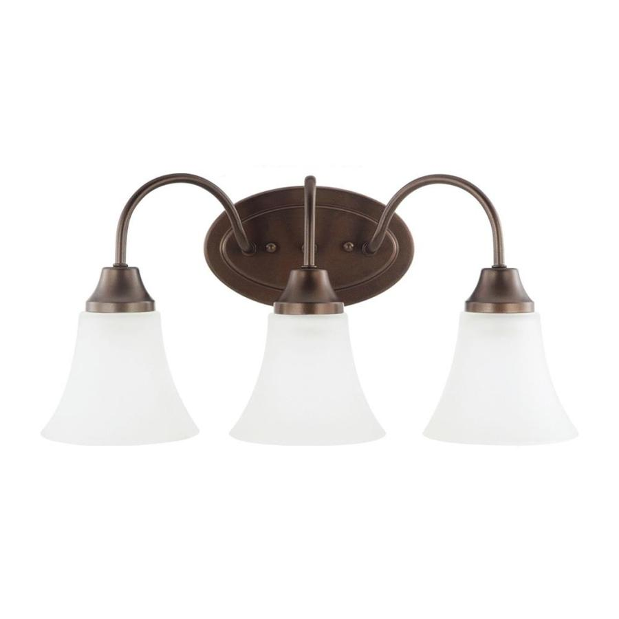 Sea Gull Lighting Holman 3-Light Bell Metal Bronze Bell Vanity Light