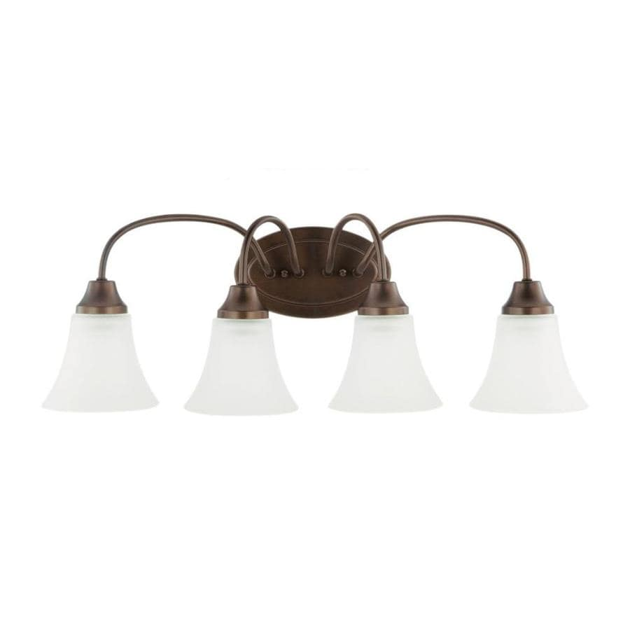 Vanity Lights Not Hardwired : Shop Sea Gull Lighting Holman 4-Light Bell Metal Bronze Bell Vanity Light at Lowes.com