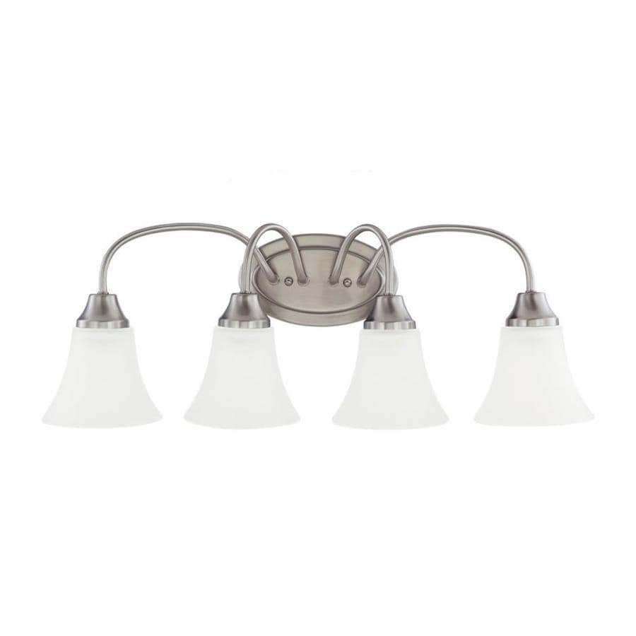 Sea Gull Lighting Holman 4-Light Brushed Nickel Bell Vanity Light