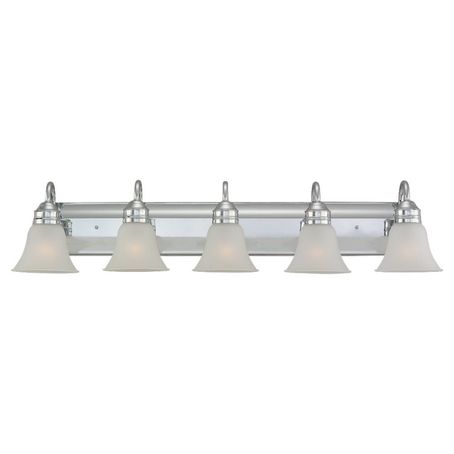 Sea Gull Lighting Gladstone 5-Light Chrome Bell Vanity Light