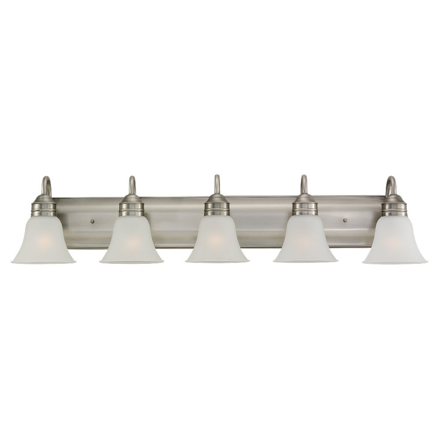Sea Gull Lighting Gladstone 5-Light Antique Brushed Nickel Bell Vanity Light