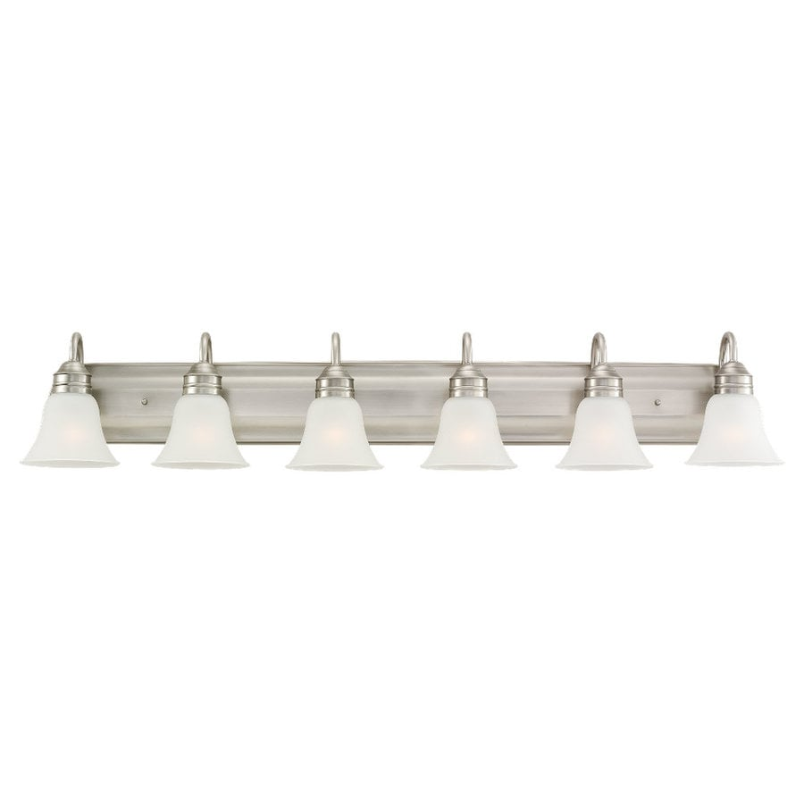 Sea Gull Lighting Gladstone 6-Light Antique Brushed Nickel Bell Vanity Light