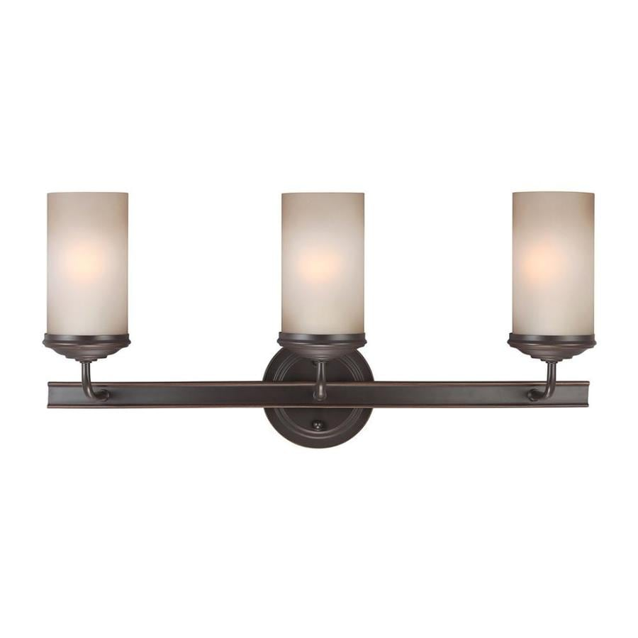 Vanity Lights Not Hardwired : Shop Sea Gull Lighting Sfera 3-Light Autumn Bronze Cylinder Vanity Light at Lowes.com