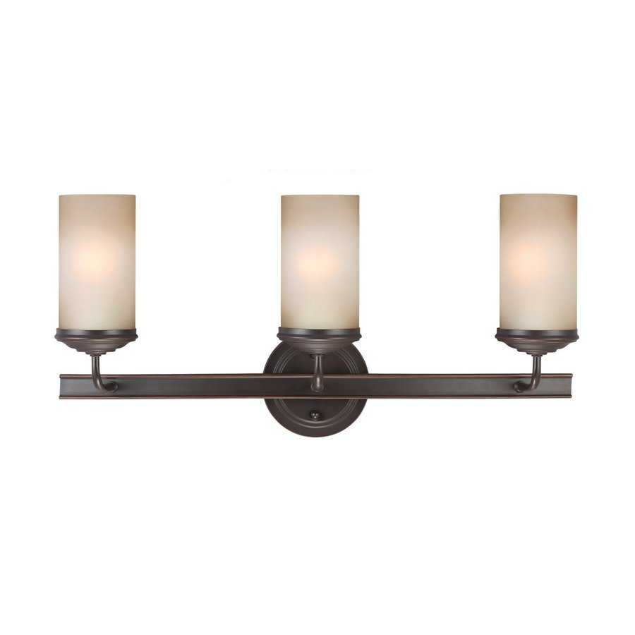 Sea Gull Lighting Sfera 3-Light Autumn Bronze Cylinder Vanity Light