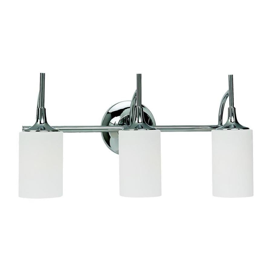 Shop Sea Gull Lighting Stirling 3 Light Chrome Cylinder Vanity Light At