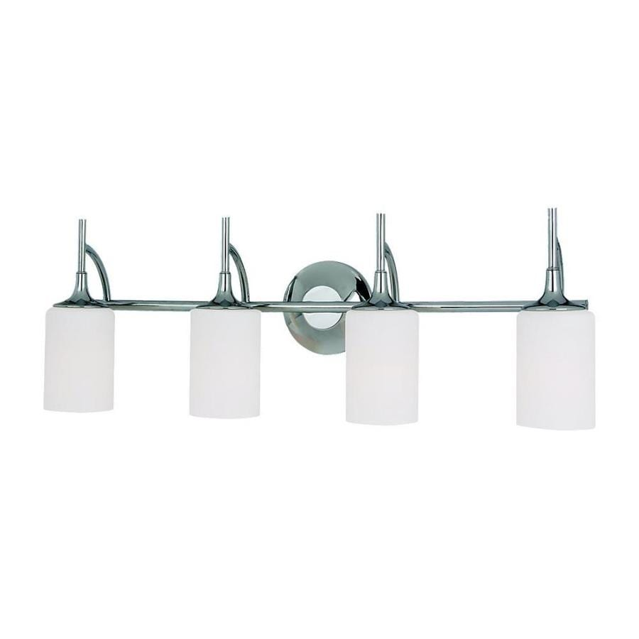 Sea Gull Lighting Stirling 4-Light Chrome Cylinder Vanity Light