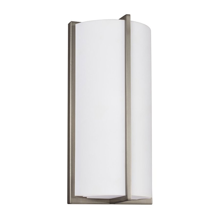 Sea Gull Lighting 1-Light Brushed Nickel Cylinder Vanity Light