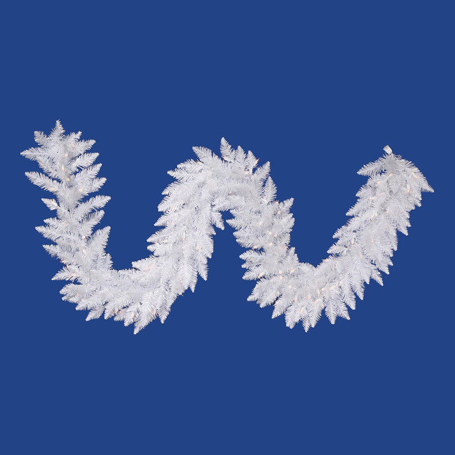 Vickerman Pre-Lit 9-ft L Spruce Garland with White Incandescent Lights