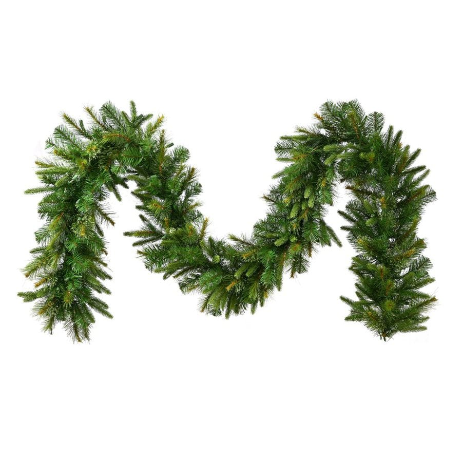 Vickerman 18-in x 25-ft Pre-Lit Cashmere Pine Artificial Christmas Garland with White Incandescent Lights