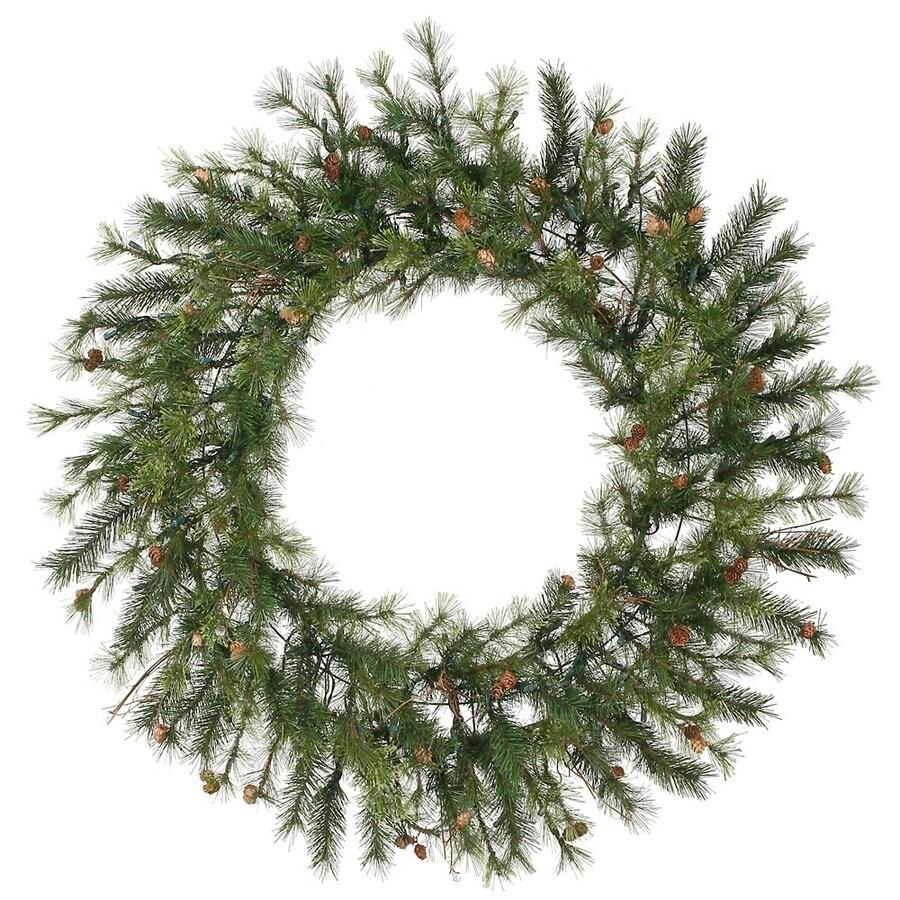 Vickerman 60-in Un-Lit Indoor/Outdoor Green Pine Artificial Christmas Wreath