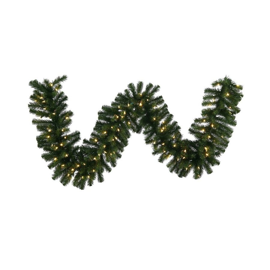 Vickerman Pre-Lit 9-ft L Douglas Fir Garland with White Incandescent Lights