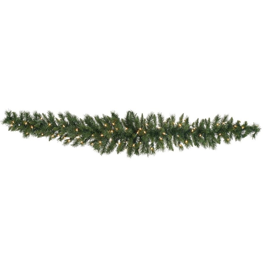 Vickerman Pre-Lit 6-ft L Pine Garland with White Incandescent Lights