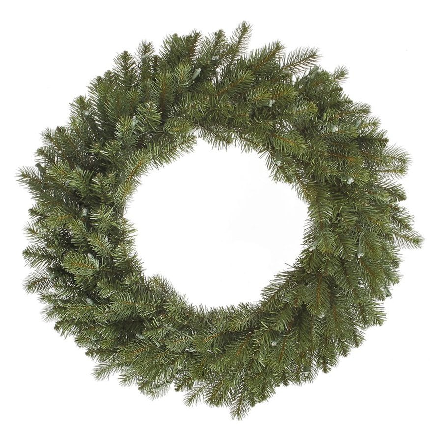 Vickerman 30-in Un-Lit Indoor/Outdoor Green Colorado Spruce Artificial Christmas Wreath