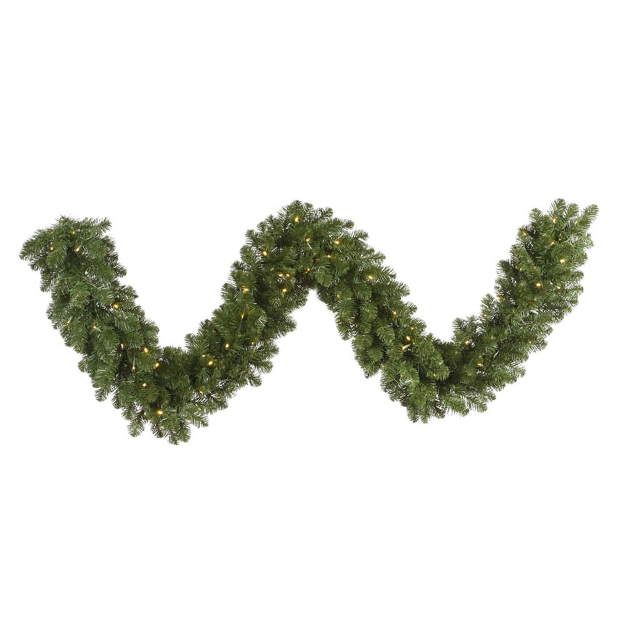 Vickerman Pre-Lit 9-ft L Grand Teton Garland with White Incandescent Lights