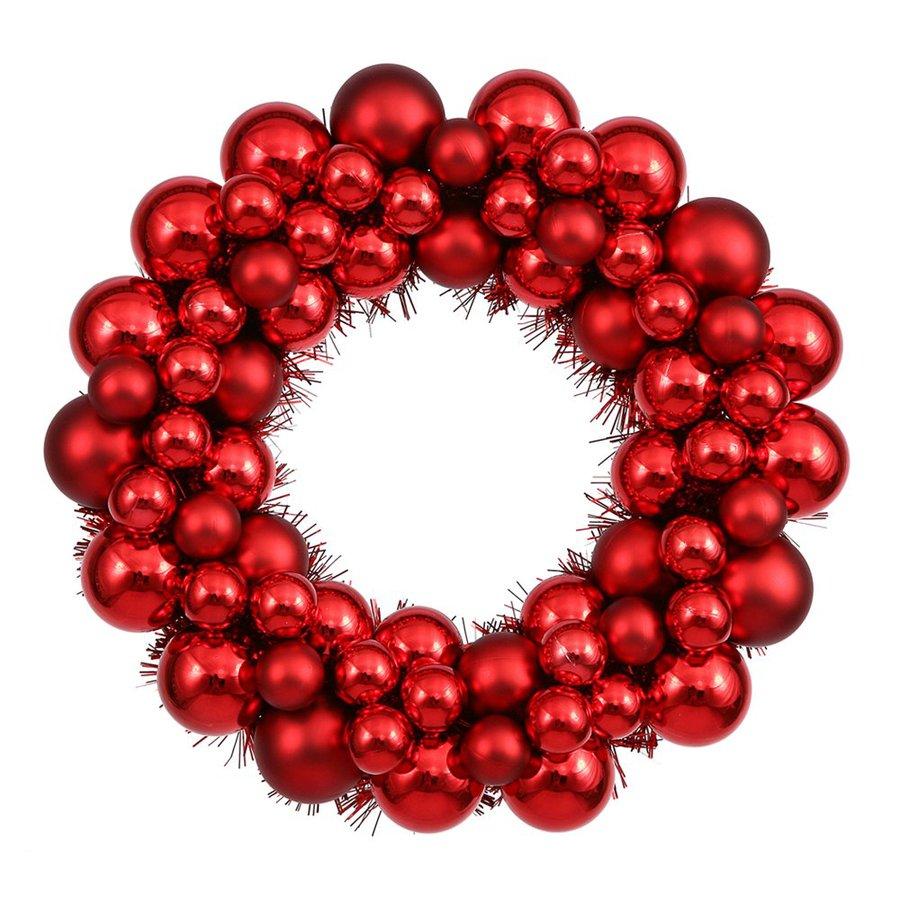 Vickerman 12-in Un-Lit Ornament Artificial Christmas Wreath