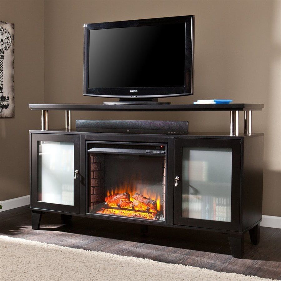 Shop boston loft furnishings 60 in w 4700 btu matte black Loft fireplace