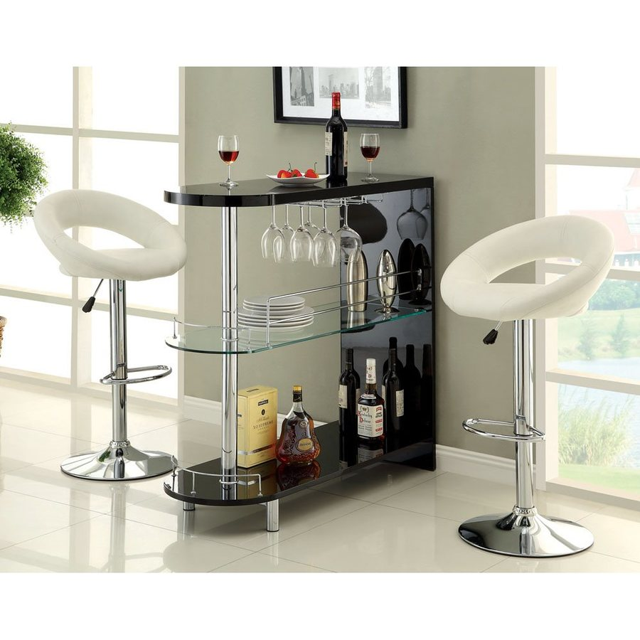 Furniture of America Numbi 42-in x 41-in Oval Mini Bar