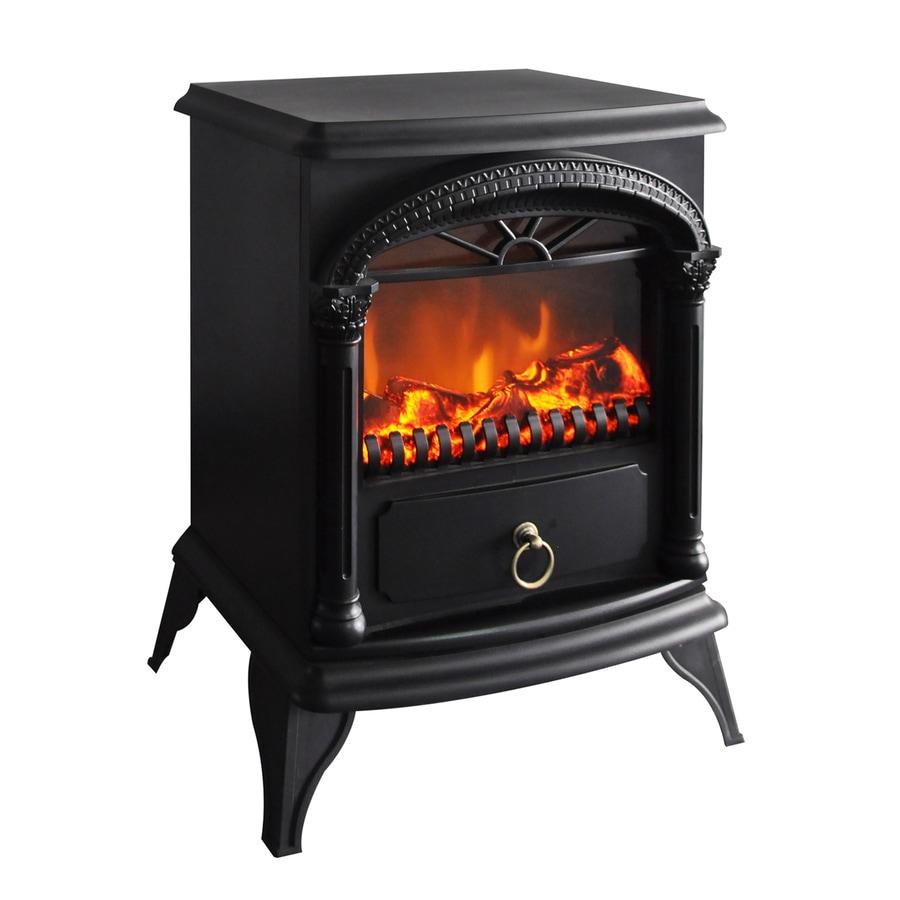 Shop CorLiving 14.75-in W 5000-BTU Black Metal Electric Fireplace ...