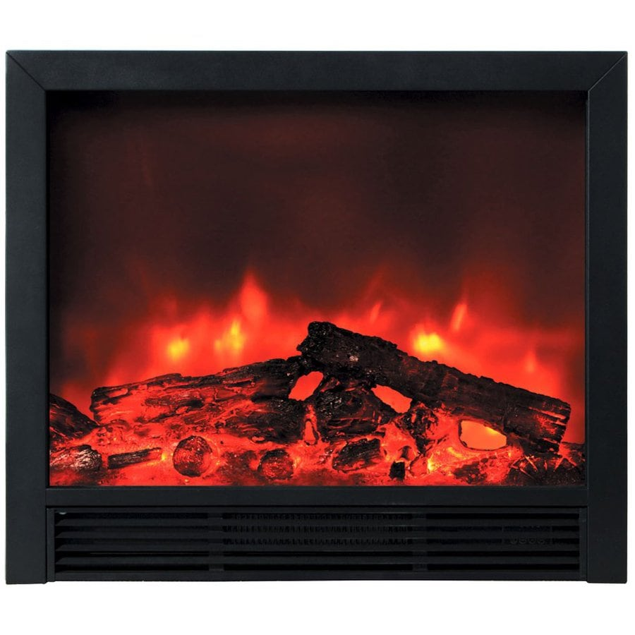 Yosemite Home Decor 33-in W 5000-BTU Black Metal Electric Fireplace with Remote Control