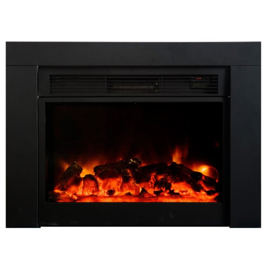 Yosemite Home Decor 36-in W 5000-BTU Black Metal Electric Fireplace with Remote Control