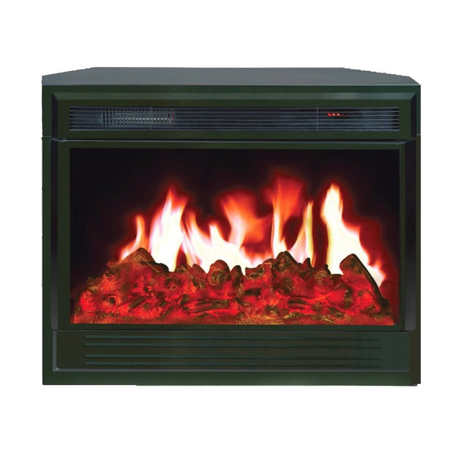 Yosemite Home Decor 37.75-in W 5000-BTU Black Metal Electric Fireplace with Remote Control