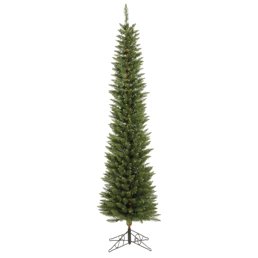 Vickerman 6.5-ft Pre-Lit Durham Pine Slim Artificial Christmas Tree with Multicolor LED Lights