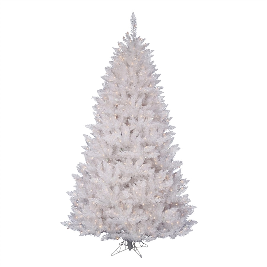 Vickerman 8 5 Ft Pre Lit White Spruce Artificial Christmas Tree With 650 Constant White Pure White Led Lights