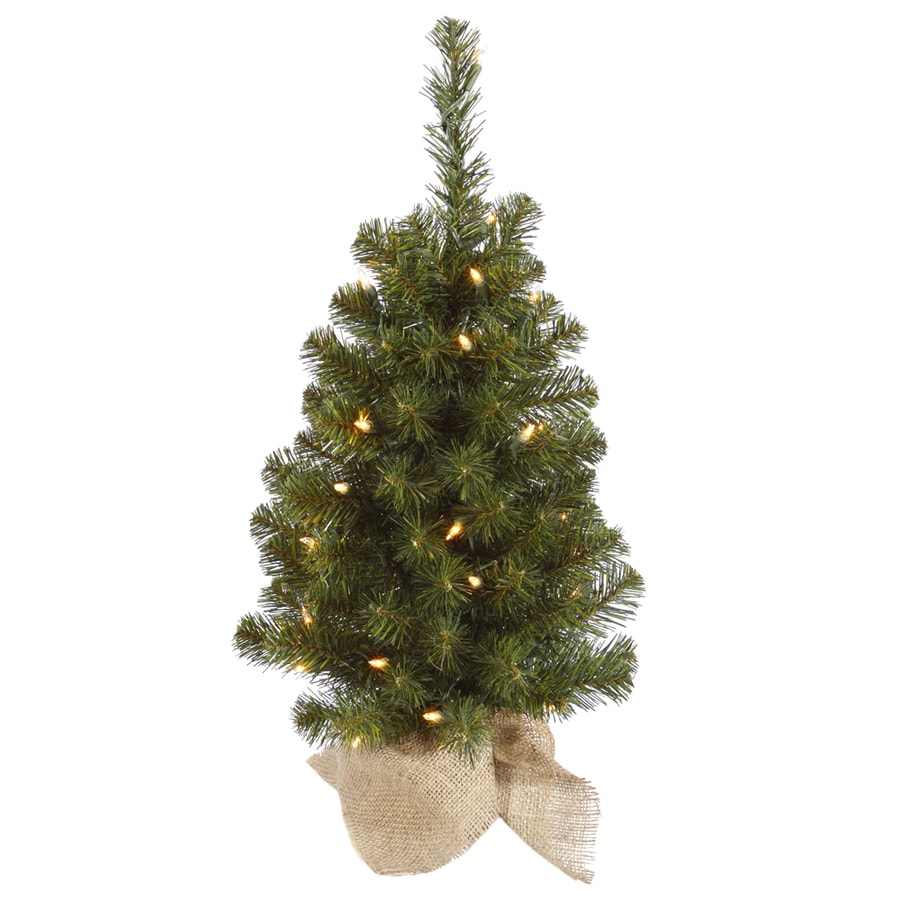 2 Ft White Christmas Tree: Vickerman 2-ft Pre-lit Slim Artificial Christmas Tree With